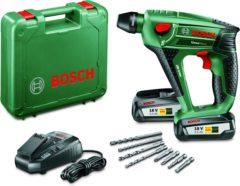 Bosch 18-volt Bosch Uneo Maxx Accuboorhamer - Met twee 18V 2,5 Ah Li-Ion Accu's - Inclusief stevige kunststof koffer