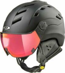 CP Helmets CP Camurai - Skihelm - dl vario polar red vizier - Zwart - 56-58/M