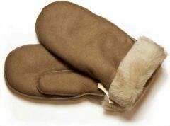Beige Bernardino Taupe Lammy wanten suede voor volwassenen - Handschoenen schapenwol 10 (XL - 26 cm)