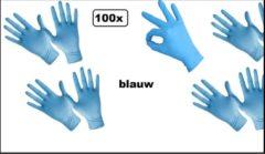 100x Handschoenen nitril blauw M merk Comfort - bacteriën virussen wegwerp handschoenen Nitril handschoen poedervrij