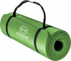 Gymston Yoga mat Inclusief draagtas en extra draagriem - 183 cm x 61 cm x 1.5 cm - anti slip Fitnessmat - Fitness mat perfect voor pilates, aerobics, yoga - Fitness & Yoga mat - Groen