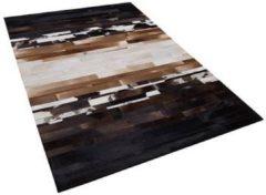 Beliani Dalyan Tapijt Meerkleurig Echt leer 140 x 200 cm