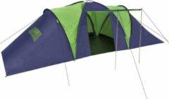 Merkloos / Sans marque Campingtent Blauw Groen 9 persoons 590x400x185cm - Koepeltent - Kampeertent - Pop-up tent - Festivaltent