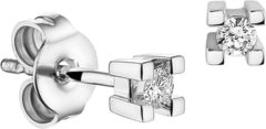 Goudkleurige The Jewelry Collection Oorknoppen Diamant 0.10ct (2x 0.05ct) H Si - Witgoud