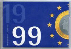 Blauwe De Nederlandse Munt Nederland Jaarset Munten 1999 FDC - Euro Introductie