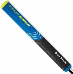 GolfPride Tour SNSR Straight Putter Grip 104cc - Zwart Blauw Geel      