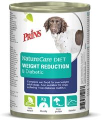 Prins naturecare diet dog weight reduction & diabetic hondenvoer 6x400 gr