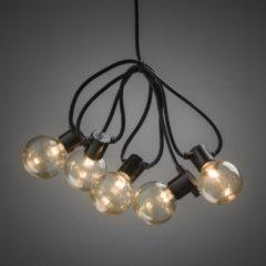 Konstsmide 2374-800 Party-lichtketting Buiten Energielabel: A (A++ - E) werkt op het lichtnet 20 + 40 Gloeilamp, LED Helder, Amber Verlichte lengte: 4.75 m