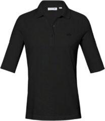 Poloshirt van 100% katoen met korte mouwen Van Lacoste zwart