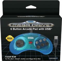 Just for Games RETROBIT Gamepad Mac,Nintendo Switch,PC,Playstation 3 USB Blauw