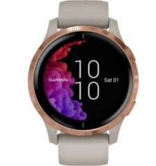 Beige Garmin VENU - Multisport - Smartwatch - Light Sand/Rose Gold