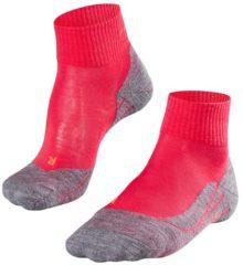 Falke - Women's Falke TK5 Short - Wandelsokken maat 41-42, rood/roze/grijs