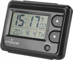 ATRIUM wekker Radiogestuurd Wereldtijd Digitaal Zwart - A720-7