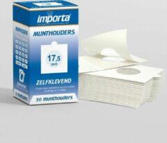 Witte Importa Munthouders zelfklevend 17,5mm - 50 stuks
