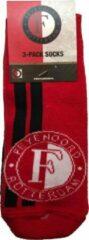 Rode Feyenoord Enkelsokken 3 Pack - Maat 31-34