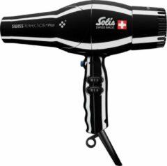Zwarte Solis Swiss Perfection Black Plus 3801 haardroger - smart silencer