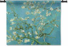 Blauwe 53 Graden Noord Wandkleed Amandelbloesem - Vincent van Gogh - 90x70 cm