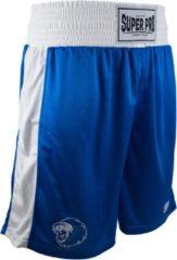 Super Pro Sportbroek - Maat M - Mannen - blauw/wit
