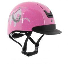 HORKA ruitercap Horsy meisjes roze maat S/M