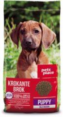 Pets Place Puppy Krokante Brokken Gevogelte&Vlees - Hondenvoer - 10 kg - Hondenvoer