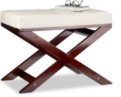 Relaxdays Sitzbank mit Polster ohne Lehne