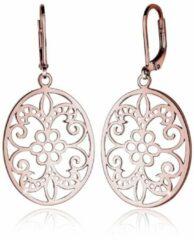 Goudkleurige Elli Dames Oorbellen Ornament bloemen oosterse filigraan 925 zilver
