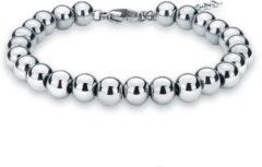 Cilla Jewels dames armband Edelstaal kralen Zilverkleurig