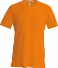 Kariban Heren Slim Fit Korte Mouw Bemanningshals T-Shirt (Oranje)
