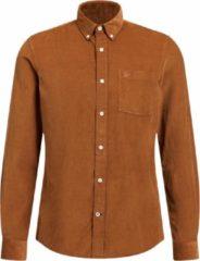 Bruine WE Fashion Slim Fit Mannen Overhemd - Maat L