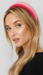 NA-KD Accessories Puff Velvet Hairband - Pink