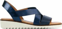 Blauwe Capobella Vrouwen Leren Sandalen - C1005 - 38