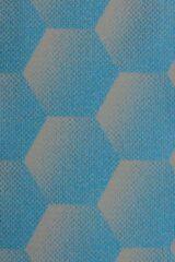 Sunbrella Hexagon J204 azure azuurblauw per meter voor tuinkussens, buitenstoffen, palletkussens