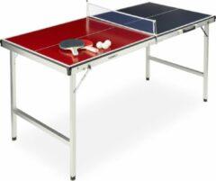 Rode Relaxdays tafeltennistafel klapbaar - pingpong tafel - tafeltennis netje - balletjes