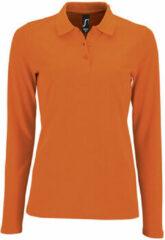 Oranje Polo Shirt Lange Mouw Sols PERFECT LSL COLORS WOMEN