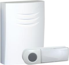 Witte Byron B401E - Draadloze deurbel - 75m - Draagbare deurbel - Beldrukker licht op in het donker - Wit