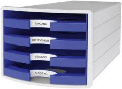 HAN IMPULS 2.0 1013-14 Ladebox Lichtgrijs DIN A4, DIN C4 Aantal lades: 4