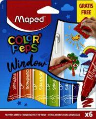 Paarse Maped Office Raamstiften - Raamstiften Kinderen - Raamstiften Waterbasis - Raamstiften afwasbaar - Maped