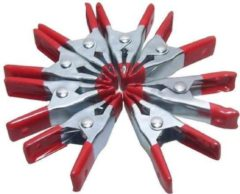 Rode 24Wonen Zeilklemmen- lijmklemmen- zeilklem- 24 stuks