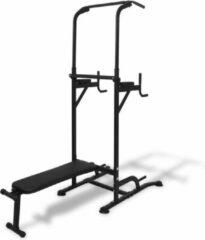 Zwarte VidaXL Fitness apparaat met sit-up bankje