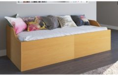 Funktionsbett 'Edisa' 180 x 200 cm inkl. 2 Lattenrosten, Klappbett, Einzelbett, Doppelbett, Gästbett VCM Buche