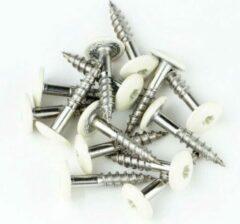 Hoenderdaal Trespaschroeven RVS 4,8x32 verpakt per 100 stuks gebroken wit (RAL 9010)