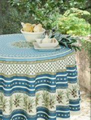 Beige Vent du Sud Tamaris katoenen tafelkleed met acryllaag
