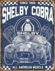 Blauwe Usa Ford Shelby Cobra metalen reclamebord wandbord