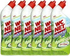 WC Net - Intense Gel - Lime fresh - WC Reiniger - 6 x 750 ml - Voordeelverpakking