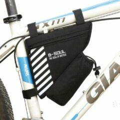 Witte Merkloos / Sans marque Waterproof Fiets Frame Tas - Racefiets frametas - Fietstas Fietsframe Wielrennen - Driehoek Opberghoes - B-Soul Zwart - Waterafstotend