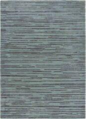 Florence Broadhurst - Slub Charcoal 39405 Vloerkleed - 120x180 cm - Rechthoekig - Laagpolig Tapijt - Design, Modern - Blauw, Zwart