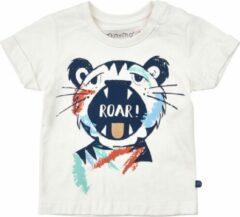 Minymo - jongens T-shirt - tijger - wit