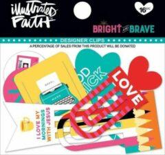 Designer Clips - Illustrated Faith - Bright & Brave