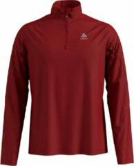 Rode Odlo Midlayer 1/2 Zip Pillon Heren - Red Dahlia - Maat L
