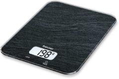 Zwarte Beurer KS19 - Keukenweegschaal - 5kg - incl batterijen - Leisteen